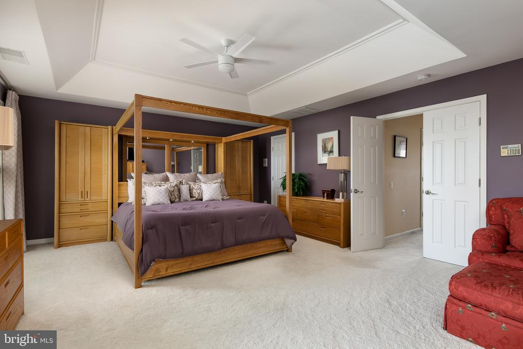 Double doors lead you to luxurious master suite - 45794 MOUNTAIN PINE SQ, STERLING