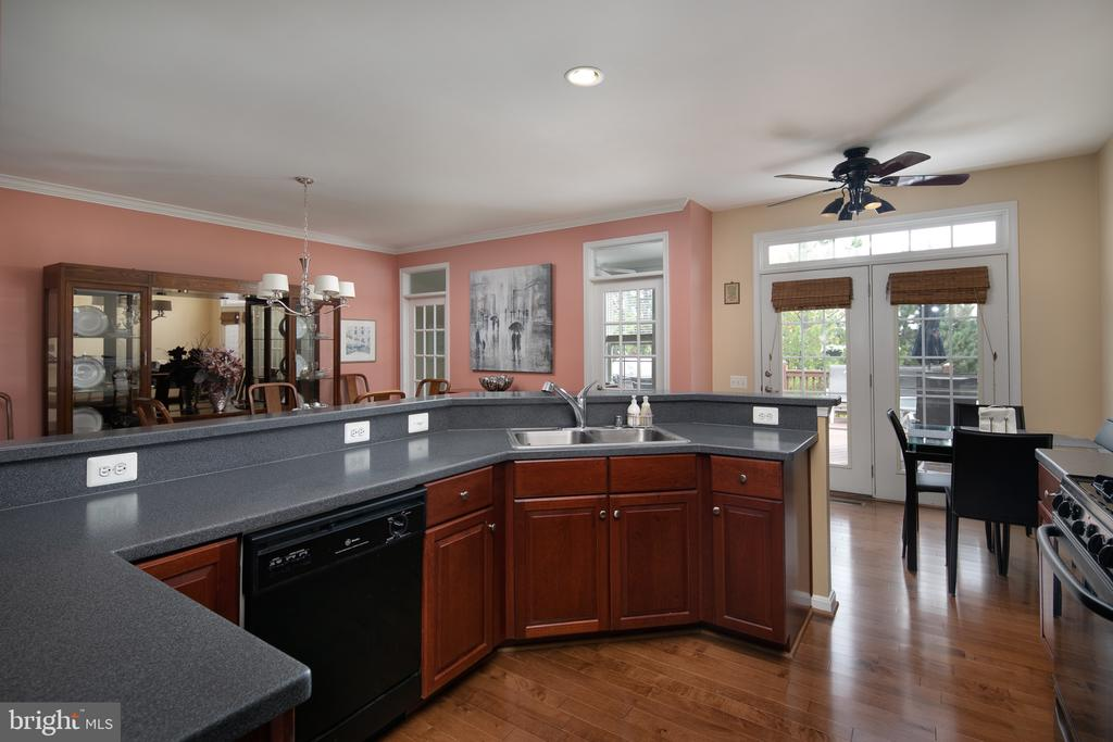 Wide open kitchen is perfect for entertaining! - 45794 MOUNTAIN PINE SQ, STERLING