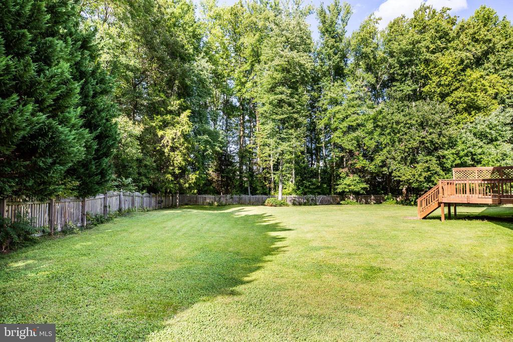 LARGE FENCED BACK YARD - 10109 BELLEVUE CT, FREDERICKSBURG