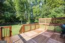 DECK VIEWING RIGHT SIDE OF BACK YARD - 10109 BELLEVUE CT, FREDERICKSBURG
