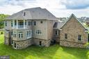 Rear View with Brick, Stone and Siding - 26479 BARTON PARK CT, CHANTILLY