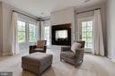 Master Sitting Room with 2 Sided Fireplace - 26479 BARTON PARK CT, CHANTILLY