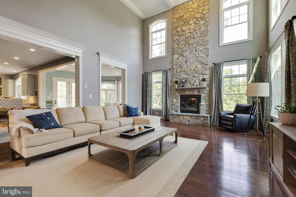 Open & Bright with Two Story Stone Fireplace - 26479 BARTON PARK CT, CHANTILLY