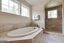 Soaking Tub with Large Walk-in 2 Person Shower - 26479 BARTON PARK CT, CHANTILLY