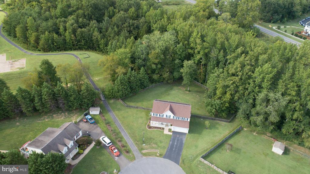LARGE YARD VIEWED FROM ABOVE - 10109 BELLEVUE CT, FREDERICKSBURG