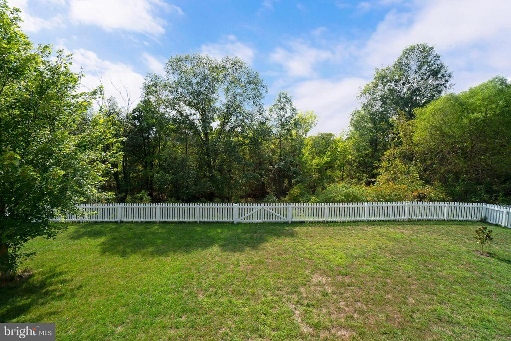Rear fenced yard perfect for play - 10828 HENRY ABBOTT RD, BRISTOW