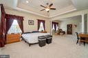 Master bedroom with tray ceiling - 10828 HENRY ABBOTT RD, BRISTOW