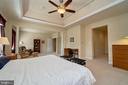 Master with lighted ceiling fan - 10828 HENRY ABBOTT RD, BRISTOW