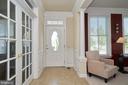 Entry foyer with ceramic tile floor - 10828 HENRY ABBOTT RD, BRISTOW