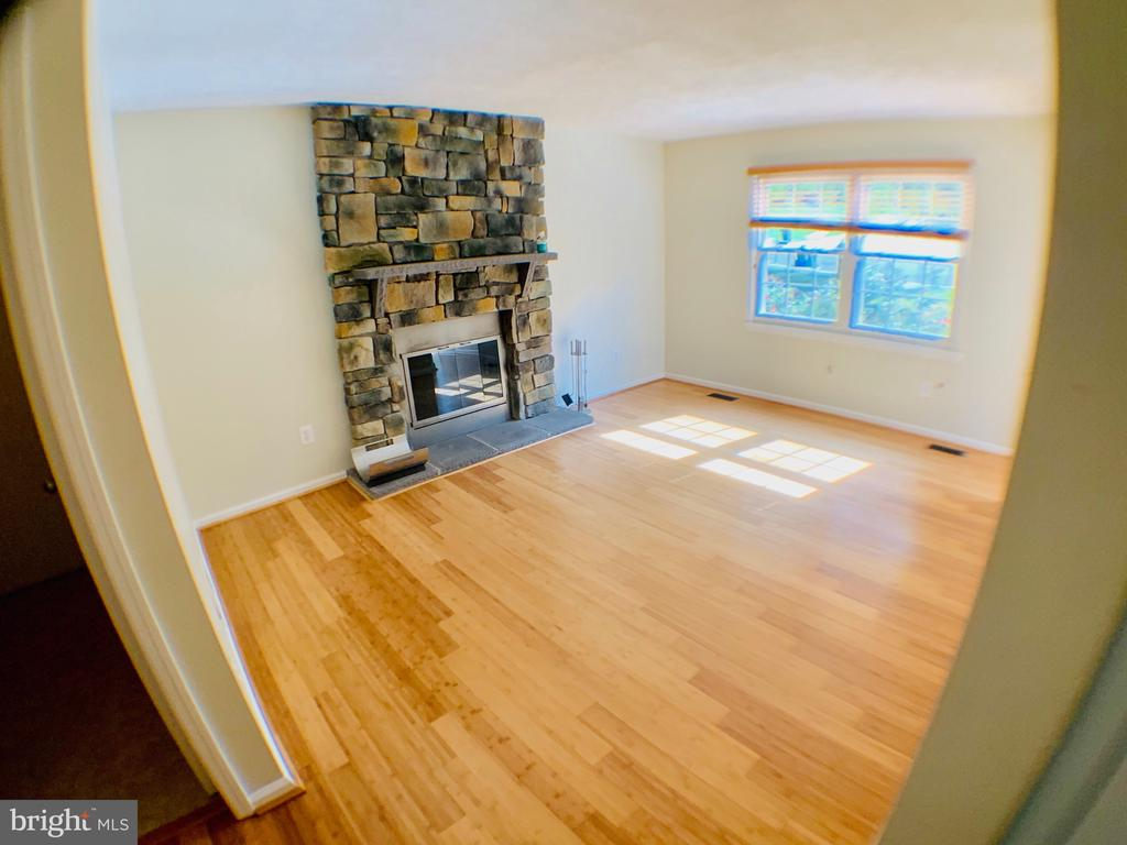 Family Room with fireplace - 3488 LYON PARK CT, WOODBRIDGE