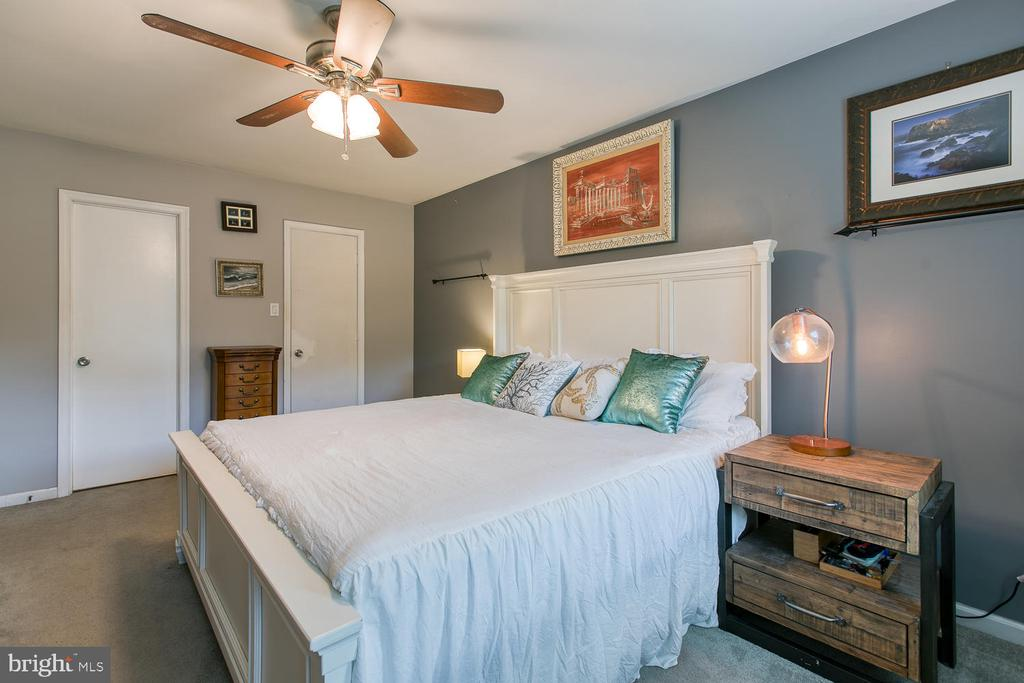Master bedroom w/walk in closet! - 12 ROSEWOOD ST, FREDERICKSBURG
