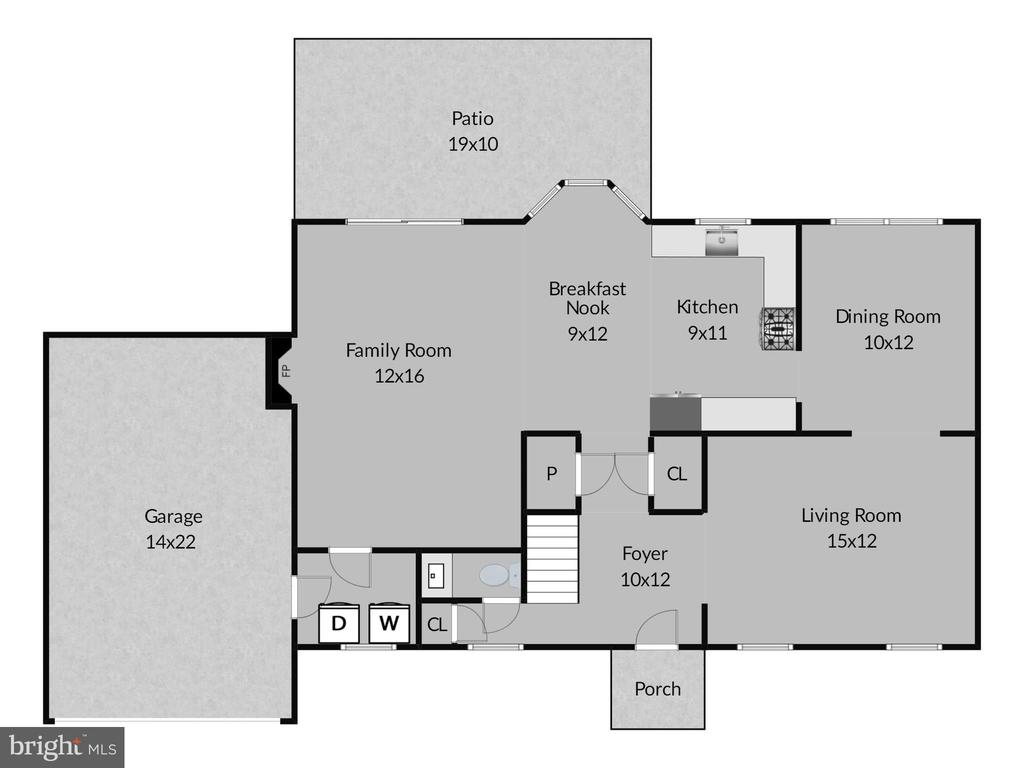 Main level floorplan - 14515 WILLIAM CARR LN, CENTREVILLE