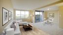 Living Area with Balcony - 10201 GROSVENOR PL #818, NORTH BETHESDA