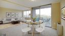 Dining Area and Balcony - 10201 GROSVENOR PL #818, NORTH BETHESDA