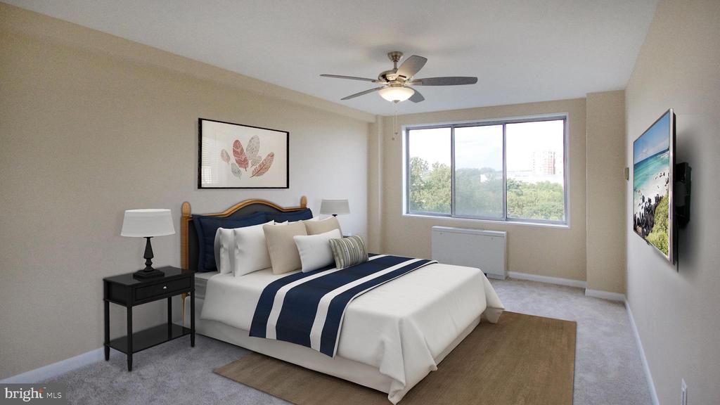 Bedroom 1 - 10201 GROSVENOR PL #818, NORTH BETHESDA