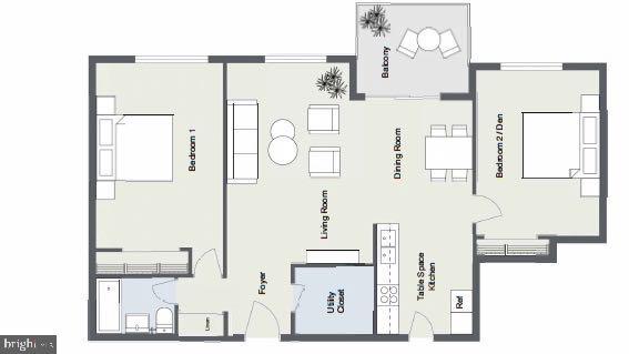 Floor Plan - 10201 GROSVENOR PL #818, NORTH BETHESDA