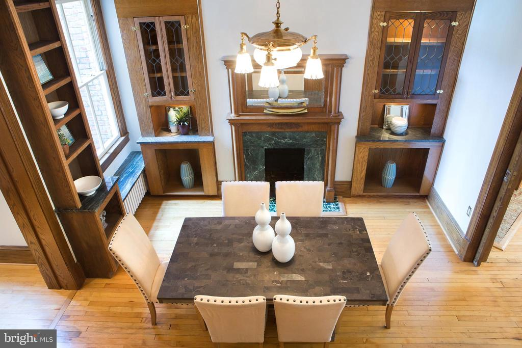 Elegant Dining Room Birdseye View - 140 12TH ST NE, WASHINGTON
