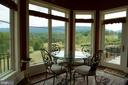 Breakfast room with incredible views and patio - 120 QUAIL LN, NEW MARKET