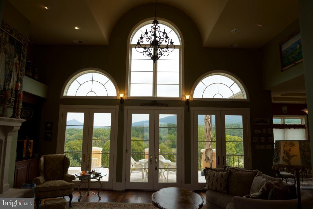 French doors leading to marble terrace - 120 QUAIL LN, NEW MARKET