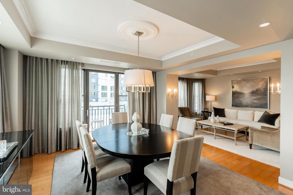 Dining Room with Balcony Access - 7710 WOODMONT AVE #703, BETHESDA