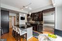 Kitchen with Kitchen Viking Appliances - 7710 WOODMONT AVE #703, BETHESDA