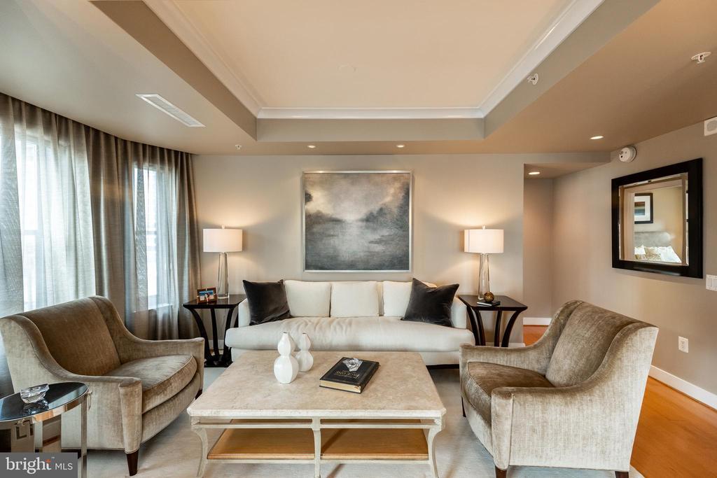 Living Room - 7710 WOODMONT AVE #703, BETHESDA