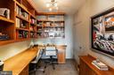 Den w/Built-ins - 7710 WOODMONT AVE #703, BETHESDA