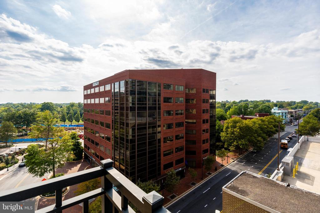 View from Balcony - 7710 WOODMONT AVE #703, BETHESDA