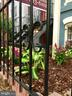 Newly painted black gates at Entrance. - 718 F ST NE, WASHINGTON