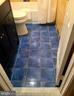 Intense lapis-colored floor. - 718 F ST NE, WASHINGTON