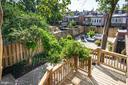 Rear Garden and Deck - 1752 LAMONT ST NW, WASHINGTON