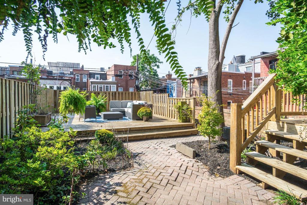 Expansive Rear Garden + Deck+ 2 Car Garage - 1752 LAMONT ST NW, WASHINGTON