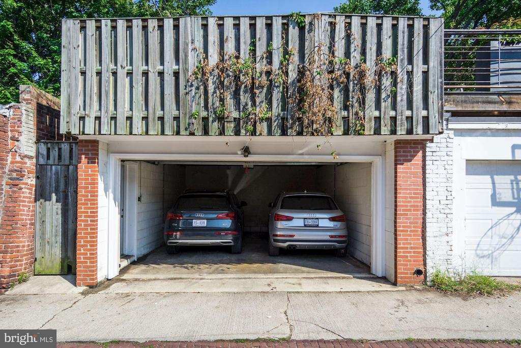 True 2 Car Masonry Garage w/ Auto Door - 1752 LAMONT ST NW, WASHINGTON