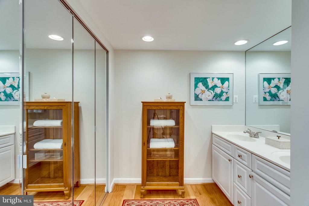 Master B.R. Dressing Area - Closet + Double Vanity - 3800 FAIRFAX DR #704, ARLINGTON