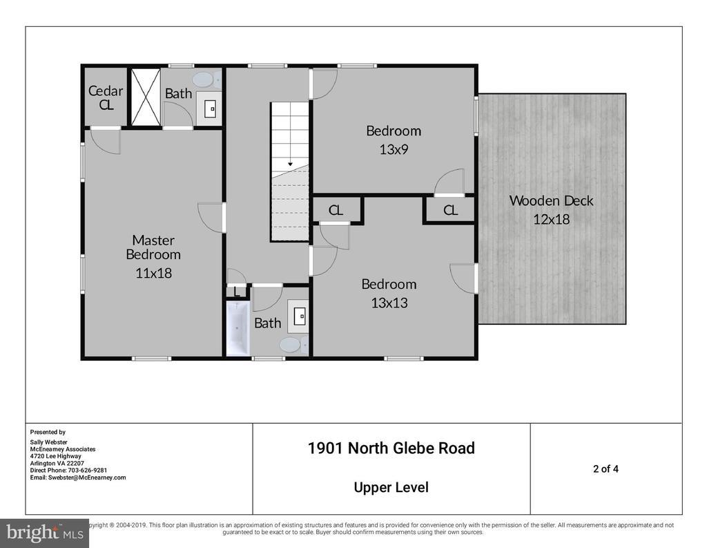 Three Bedrooms and 2 updated Full Baths on Upper 1 - 1901 N GLEBE RD, ARLINGTON