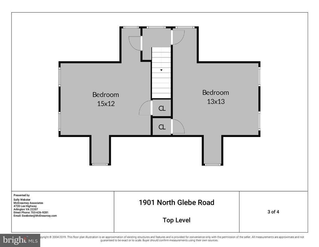 Two Bedrooms on Upper Level 2. - 1901 N GLEBE RD, ARLINGTON