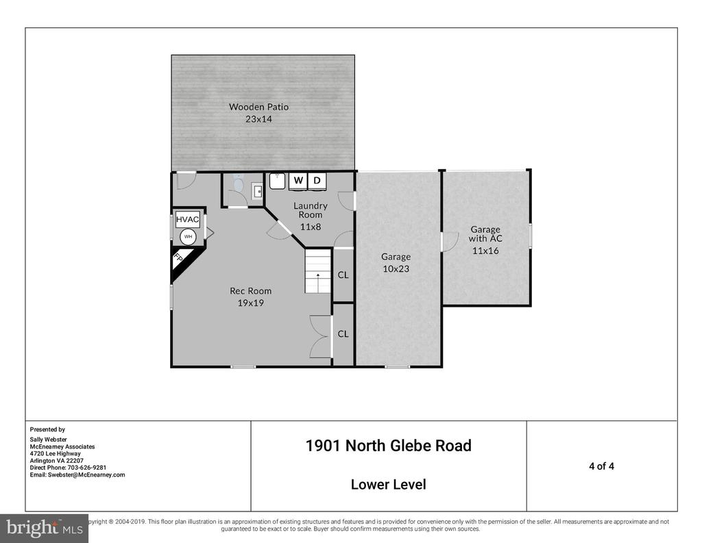 Rec Room, 1/2 Bath and 2 Garages on lower level. - 1901 N GLEBE RD, ARLINGTON