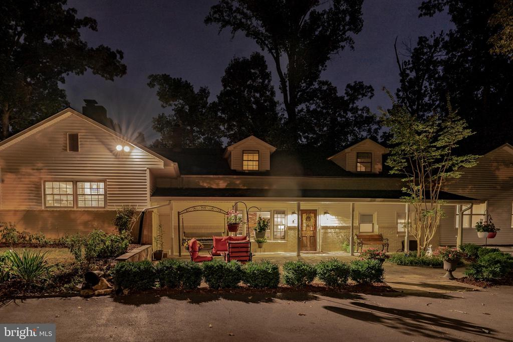 Tranquil Night View of Front Entrance - 7325 AUBURN ST, ANNANDALE