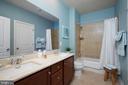 En Suite Bath with Dual Sink Vanity - 549 REGENT PL NE, WASHINGTON