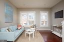 Living Room with Custom Plantation Shutters - 549 REGENT PL NE, WASHINGTON