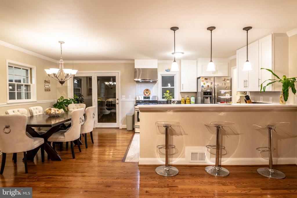 Dining Room/Kitchen UpperLevel - 7325 AUBURN ST, ANNANDALE