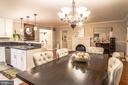 Dining Room/Living Room/Kitchen Upper Level - 7325 AUBURN ST, ANNANDALE
