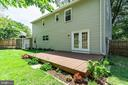 Large deck for BBQs, shady in afternoon - 6411 WYNGATE DR, SPRINGFIELD