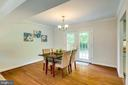 Separate dining room, French doors to backyard - 6411 WYNGATE DR, SPRINGFIELD