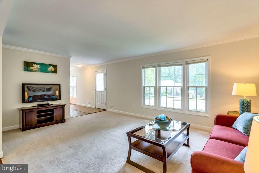 Huge living room for family gathers, TV watching - 6411 WYNGATE DR, SPRINGFIELD