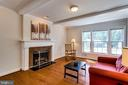 Lovely custom built mantle, large picture window - 6411 WYNGATE DR, SPRINGFIELD