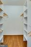 Walk-in master closet with storage system - 6411 WYNGATE DR, SPRINGFIELD