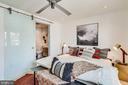 Owner's Suite - Custom Glass Barn Door to En Suite - 1544 8TH ST NW, WASHINGTON