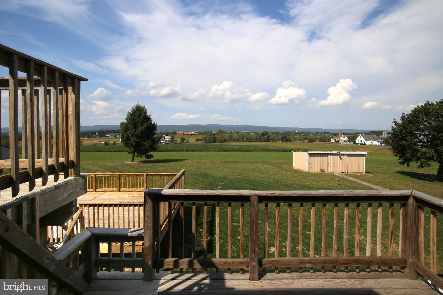 View to the north from the deck.
