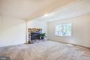 Family Room w/ gas fireplace - 4 EDGEWOOD CIR, FREDERICKSBURG